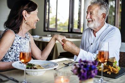 Mature man proposing to a woman