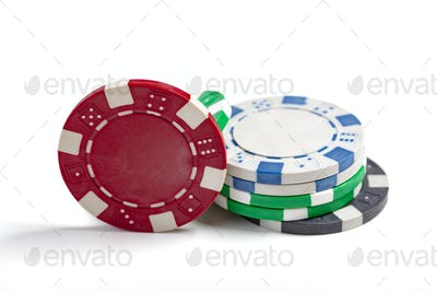 Isolated Casino Chips