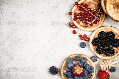 Pancakes border background,copy space