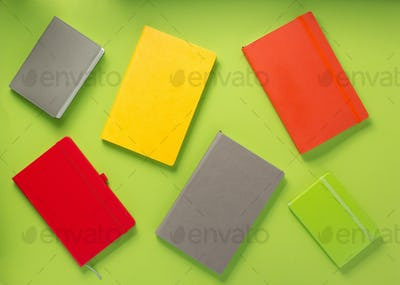 notebook at abstract background