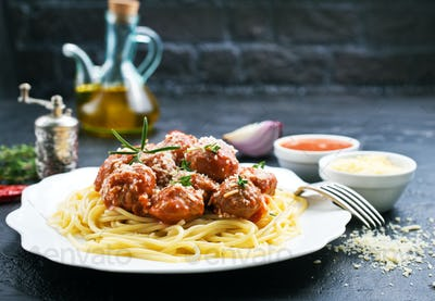 SaveDownload Previewspaghetti and meat balls