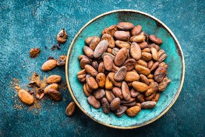 Cocoa beans. Cocoa