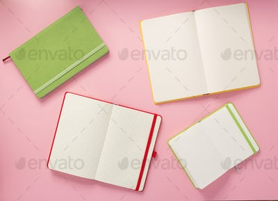 notepad at abstract background