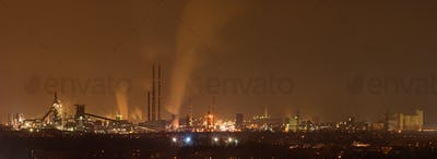 Coking And Steel Plant At Night