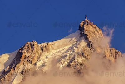 Alps peaks in Chamonix area - Aiguille du Midi