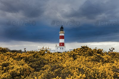 Point of Ayre Lighthouse on the Isle of Man