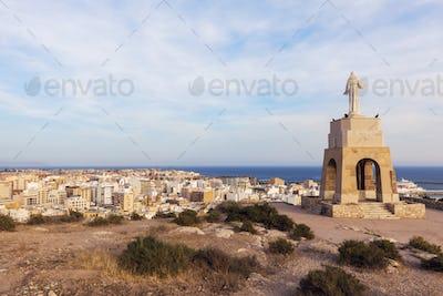 Statue of the Sacred Heart of Jesus in Almeria