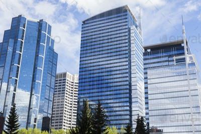 Modern architecture of Calgary