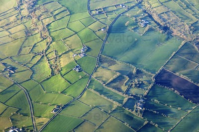 Aerial view of Northern Ireland