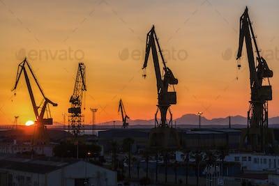 Port of Cadiz at sunrise