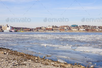 Panorama of Alton across Mississippi River
