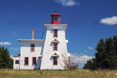 Blockhouse Point Lighthouse on Prince Edward Island