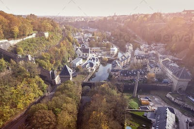 Panorama of Luxembourg City