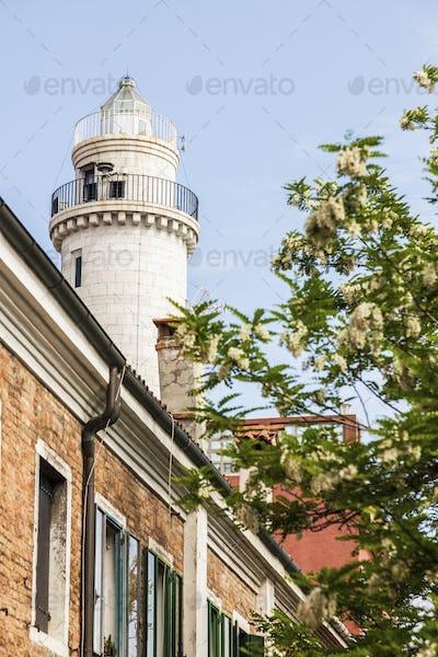Lighthouse on Murano Island in Venice