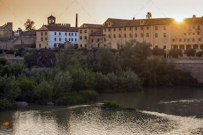 Panorama of Cordoba with Guadalquivir River. Cordoba, Andalusia,