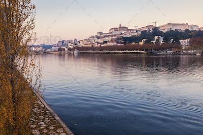 Panorama of Coimbra across Mondego River