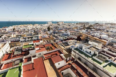 Aerial panorama of Cadiz
