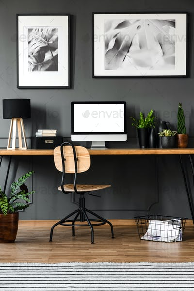 Office Poster Mockup Wall Stock Photos Royalty Free Images