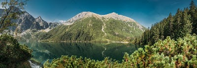 Tatra National Park, Poland. Panorama Famous Mountains Lake Mors