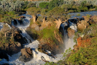 Epupa waterfalls in on the border of Angola and Namibia