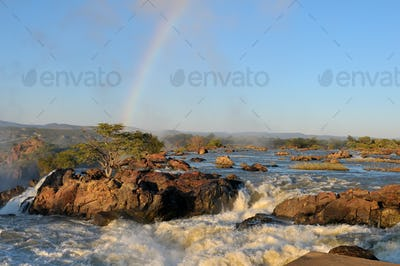 Sunrise at the Ruacana waterfall, Namibia