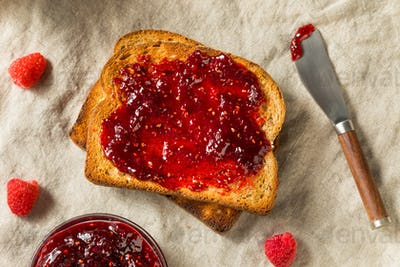 Healthy Homemade Raspberry Jam Preserve