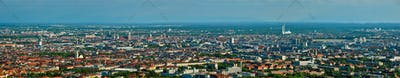 Aerial panorama of Munich. Munich, Bavaria, Germany