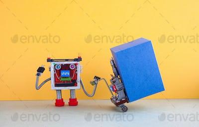 Robotic logistic delivery service concept.