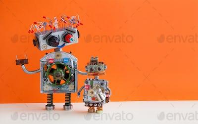 Creative design Robotic family.