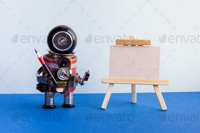 Robot artist and easel