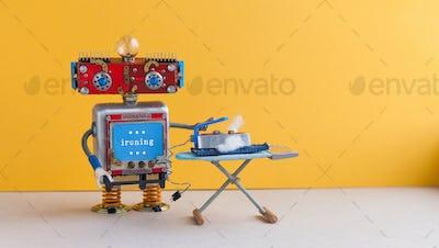 Robot housework helper with iron board
