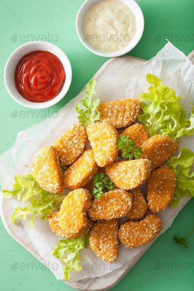 vegan soy nuggets healthy snack