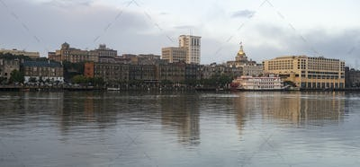 Morning Reflection Downtown City Center Savannah Georgia