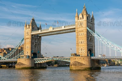 The famous Tower Bridge in London