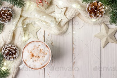 Cappuccino on white