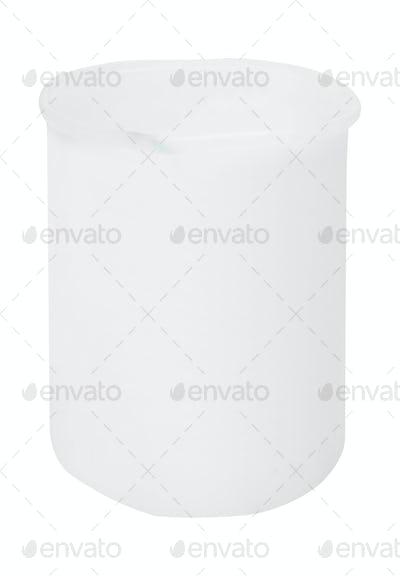 Plastic bucket isolated on white