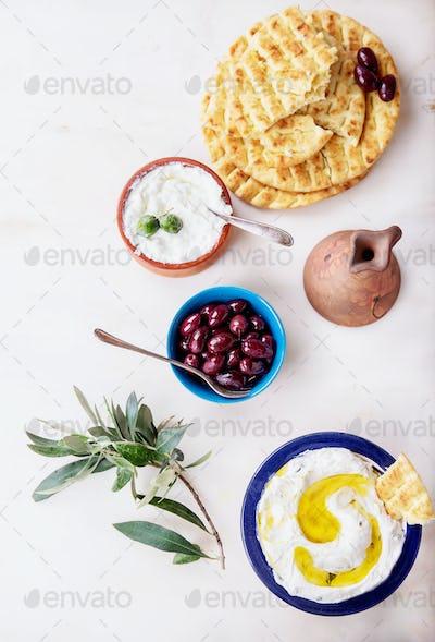Traditional Greek Appetizer Dzadziki or Tzatziki