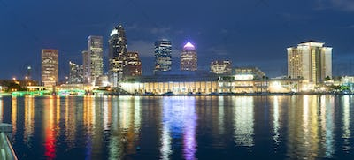 Urban Panoramic Downtwon City Skyline of Tampa Florida