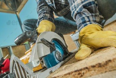 Plywood Cut by Circular Saw