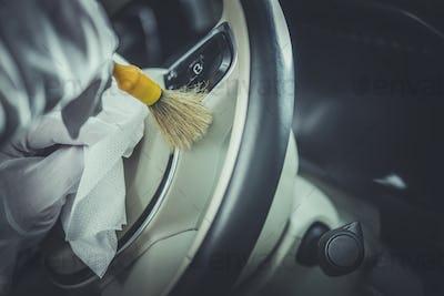 Detailed Steering Wheel Cleaning