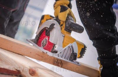 Woodwork Job with Circular Saw