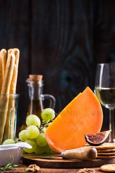 American Cheddar orange cheese