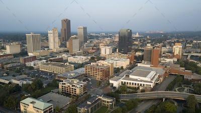 Over the Downtown City Center Skyline of Little Rock Arkansas USA