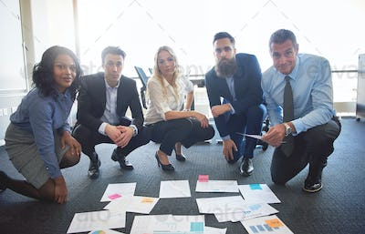 Portrait of business team with ideas
