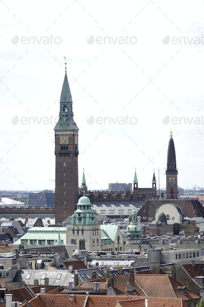Aerial view of Copenhagen, Denmark