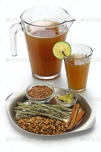 emoliente, traditional peruvian healthy drink