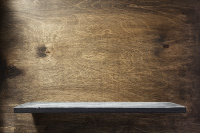 wooden shelf at background texture