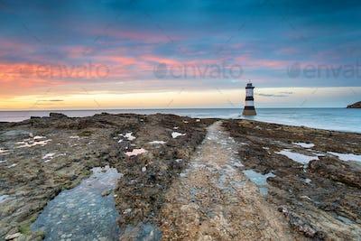 Trwyn Du Lighthouse at Penmon Point in Wales