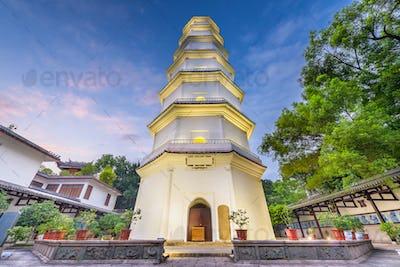 Fuzhou, Fujian, China at the White Pagoda
