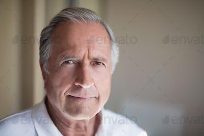 Close-up portrait of senior male patient